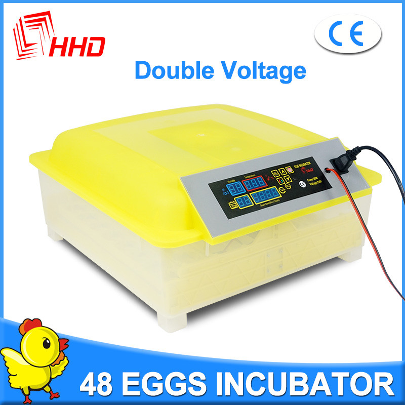 Hot sale HHD breeding machine eggs incubator for hens have 1 yeas warranty hold 48 eggs YZ8-48