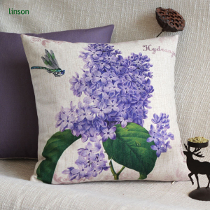 Custom Bulk Price Screen Printed Cotton Linen Cushion Cover Wholesale