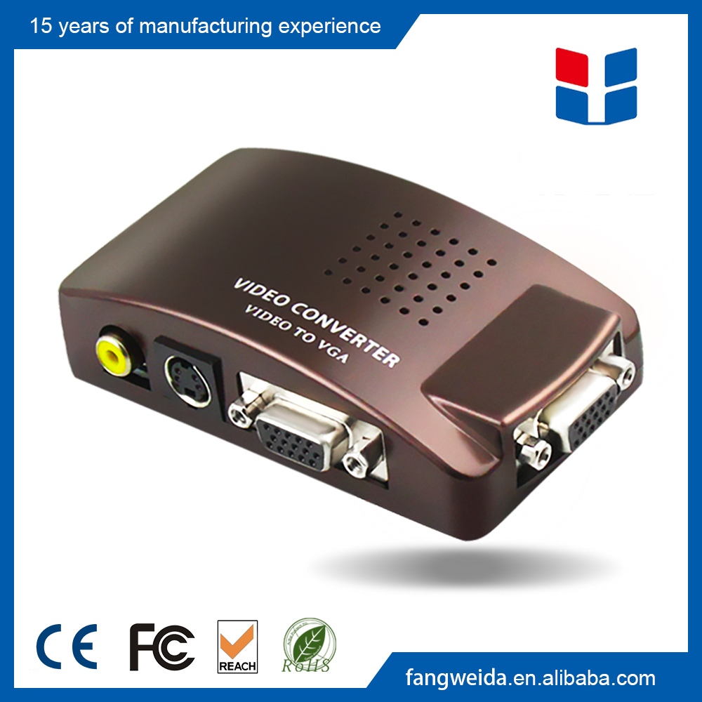 Factory direct china video converter av to vga adapter