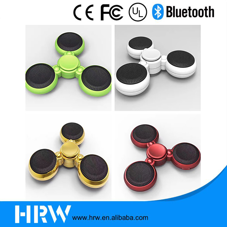 2017 LED mini bluetooth speaker music fidget spinner portable hand spinner fidget toy