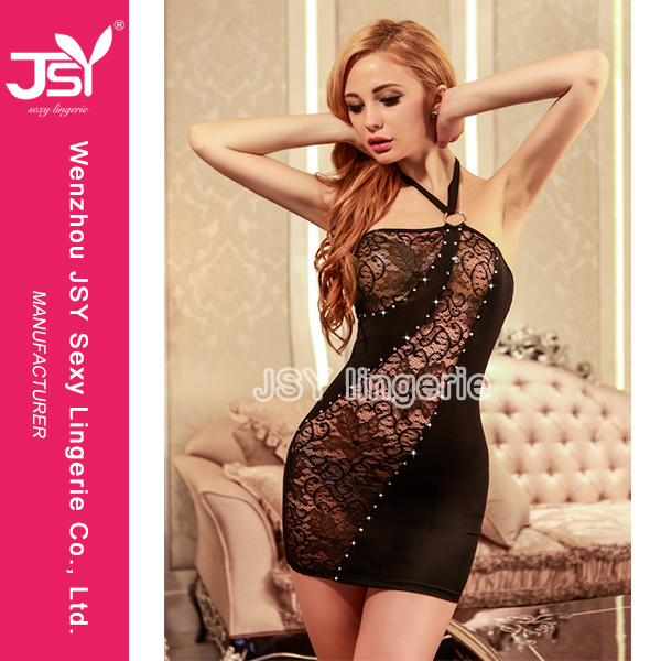 Factory Fashion Sexy Ball Dress Club Babydoll Nighty Lingerie Club Adult Shop Hot Sale Satin/Lace Polyester/Nylon Manufacturer
