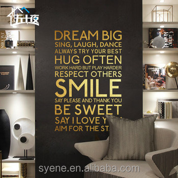syene new custom 3d art vinyl islamic wall sticker malaysia home