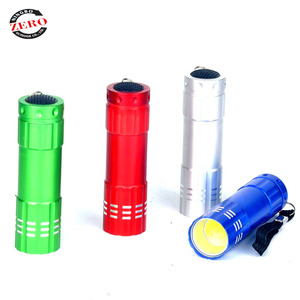 Popular well quality AAA battery aluminum 9 led cob led flashlight,flashlight cob, cob flashlight