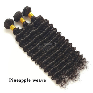wholesale hair extension vendors brazilian free shipping virgin cuticle aligned philippines hair Pineapple/deep weave bundles