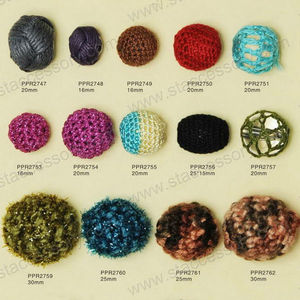 Cheap Round Fashion Jewelry Fabric Wrap Beads in bulk