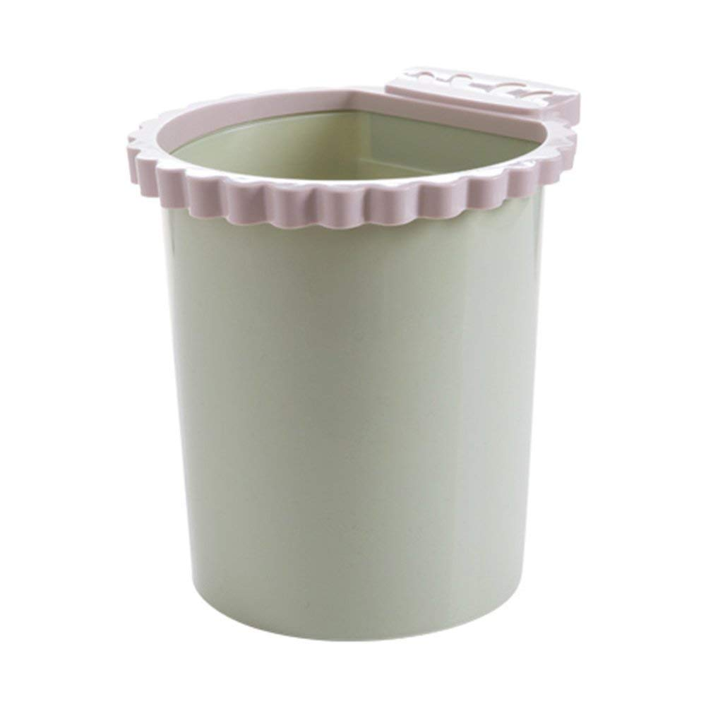 Trash Can Creative Bathroom Pressure Ring, Kitchen Without Cover Round, Home Living Room Bedroom Plastic Paper Basket