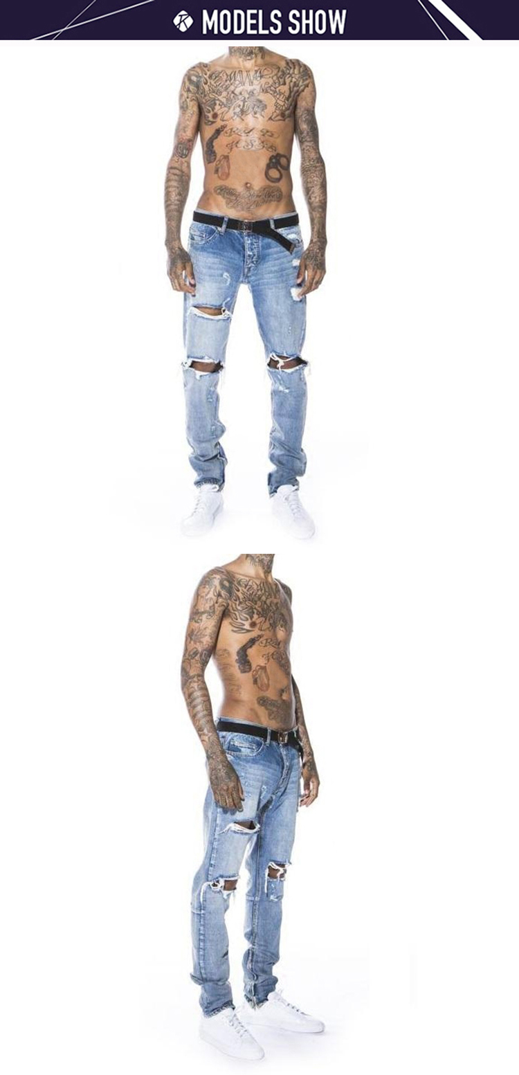 407a3e80fff 2019 latest design mens fashion blue skinny distressed jean mens stylish  oem custom your own brand fabrics jeans pent