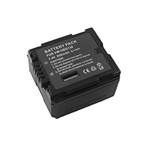 Extended Performance Replacement Digital Camera and Camcorder Battery for Panasonic VW: VBG130, VBG130-K, VBG130E-K, VBG070, VBG070A, VBG070-K, VBG260, VBG260-K, HS20, VBG260-K, SD9EG-K, SD10, SD100GK