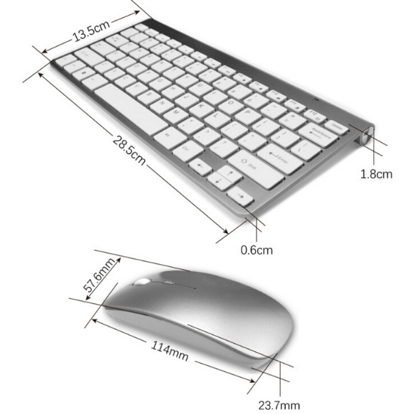 2.4 g wireless keyboard and 2.4 ghz wireless mouse