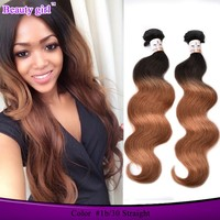 dropshipping china low price products virgin brazilian hair 1b/30 ombre white human hair extension