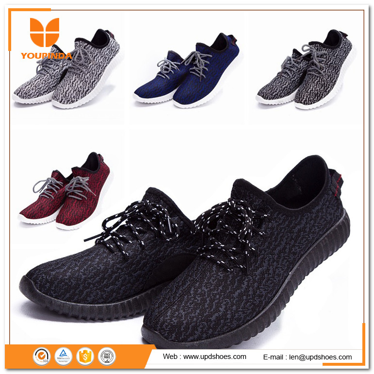 Cheap white fabric sneaker summer 2017 yeezy 350 new style fashion ladies flat sport shoes for men