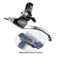 Adjustable sensor control designed brake lever of electric bike brakes