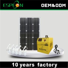 Zhongshan Espeon 60W portable solar power system home for DC TV