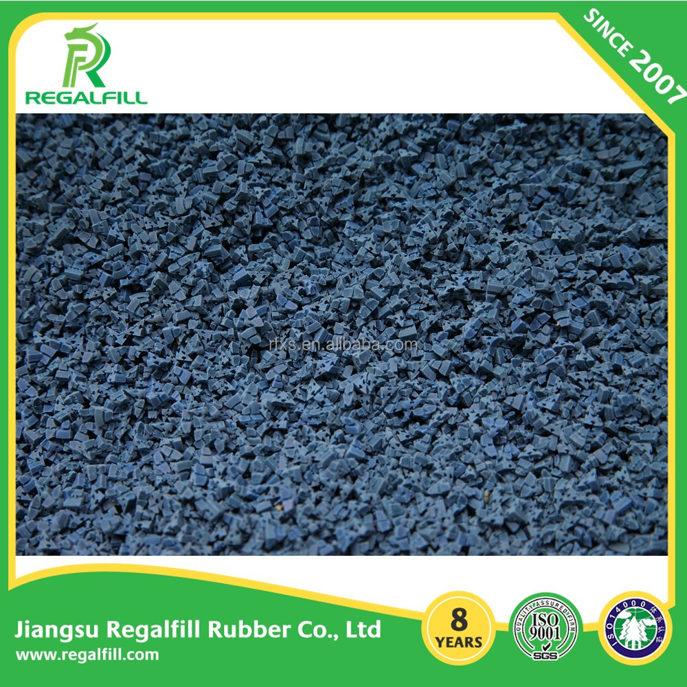 Triangle Rubber Infills for Synthetic Turf different colors