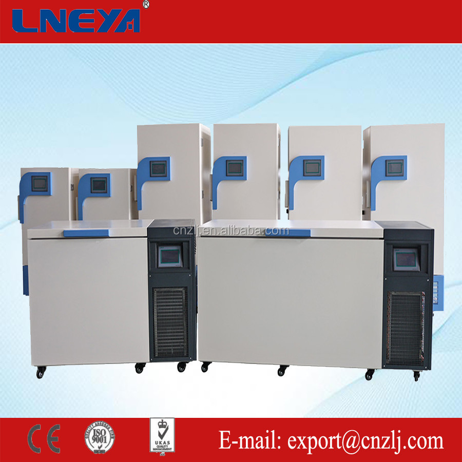 Commercial deep freezer applied to freezing of red blood cells temperature range from -120 up to -150 degree