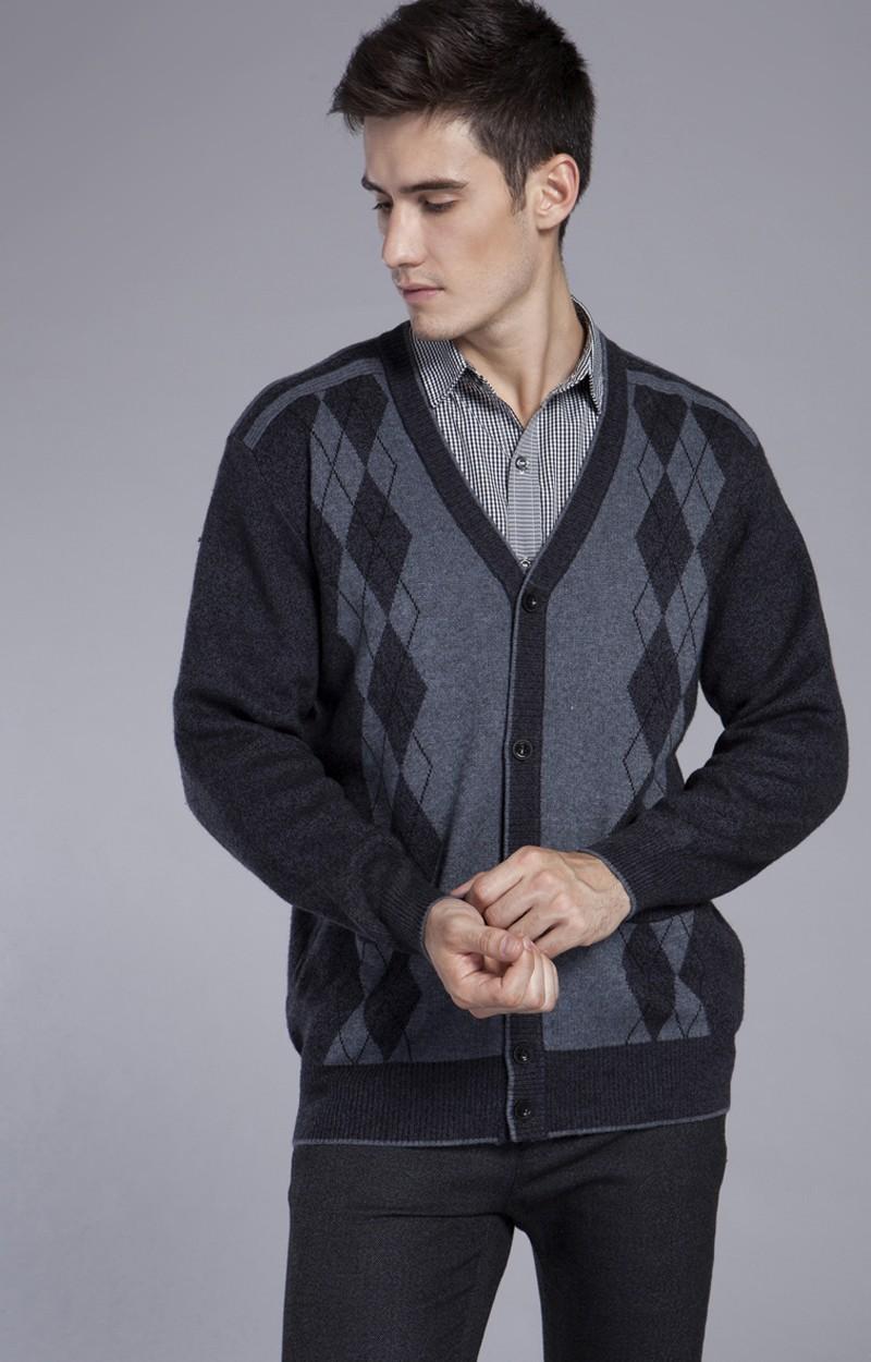 Acquista All'ingrosso YANGRONGJINGPIN Autunno E Inverno Vestiti Negli Uomini Più Anziani Degli Uomini Anziani Maglione Con Scollo A V Cardigan