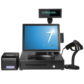 15 inch Pos System all in one / Cash Register equipment for restaurant/ Pos terminal point of sales