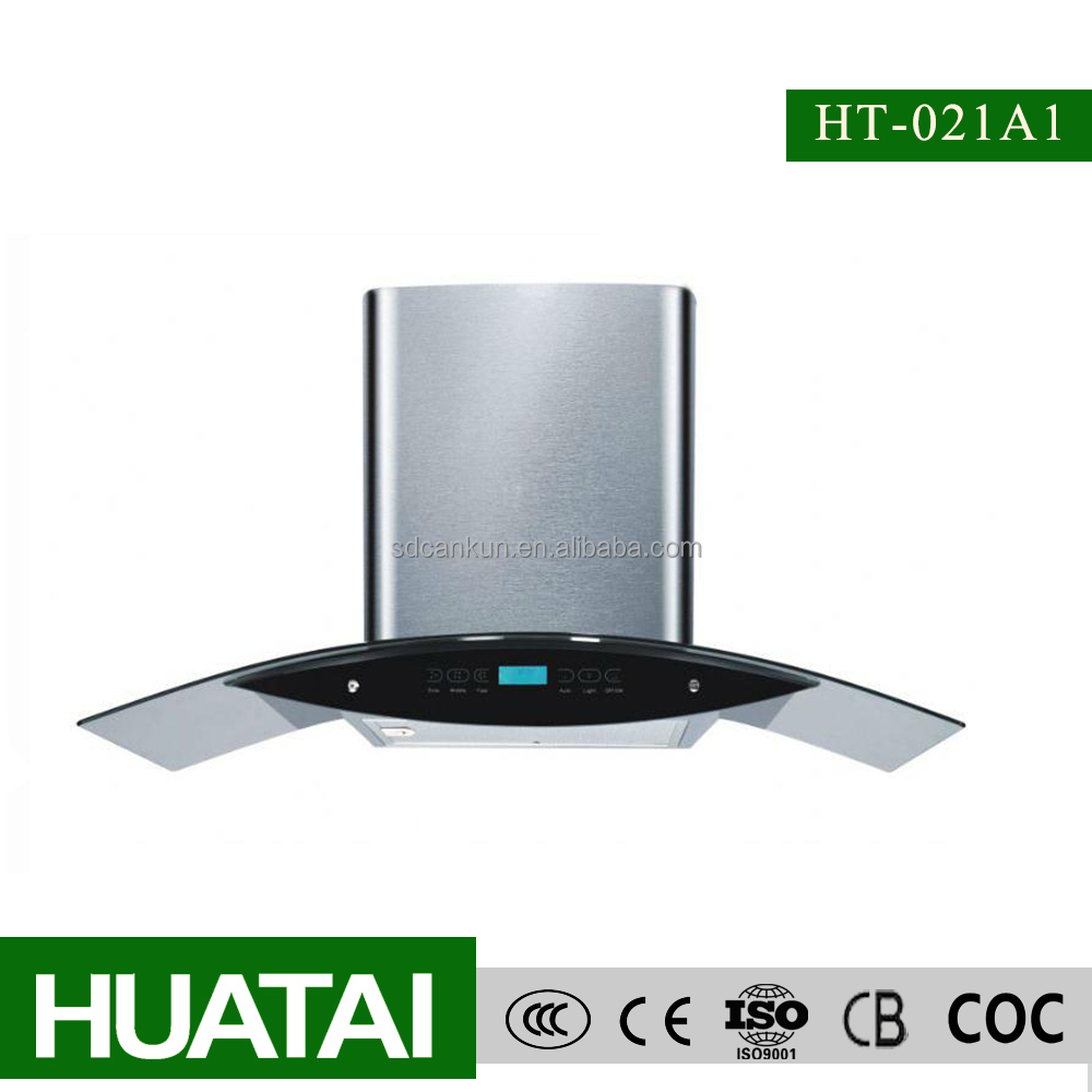 Aluminium Filter Curved Glass Kitchen Appliance Chimney - Buy ...