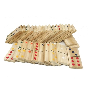 Educational Kids adult domino spare part Wooden Dominoes Game Set