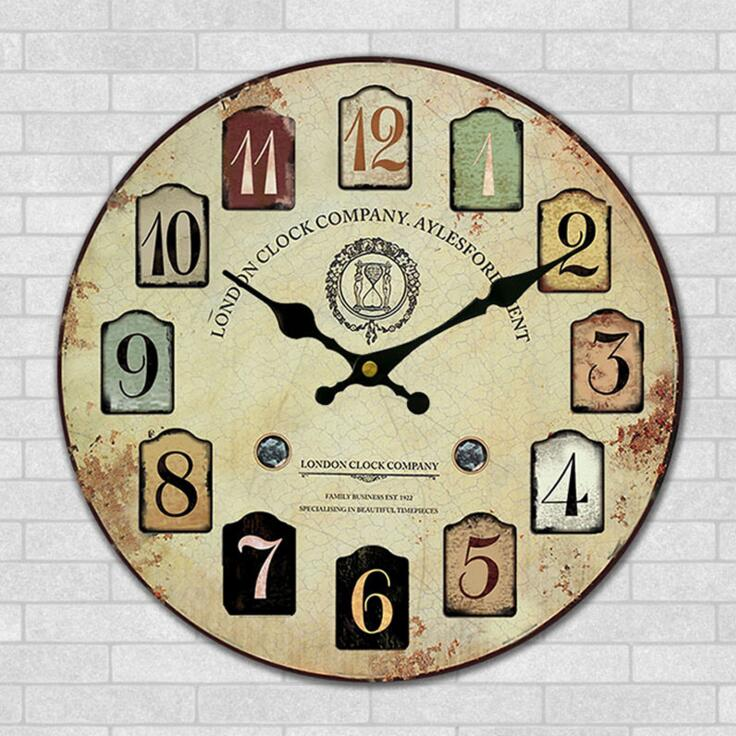 Handmade Wooden Crafts Wall Clock