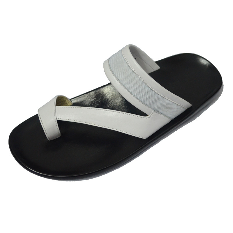 b1aa2e5b31dc8 Get Quotations · Summer sandals male leather sandals slip slippers thong  sandals and slippers British leisure big yards Men s