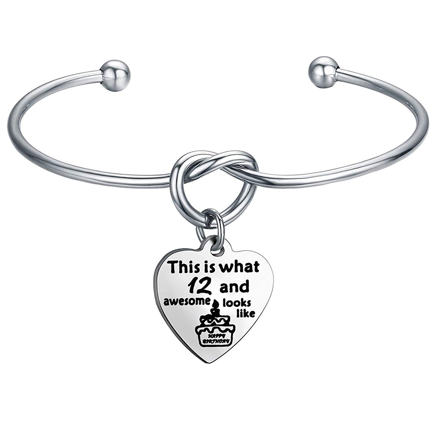 Get Quotations FEELMEM Birthday Gifts For Her Bracelets12th Sweet 16 18th 21stLove Knot