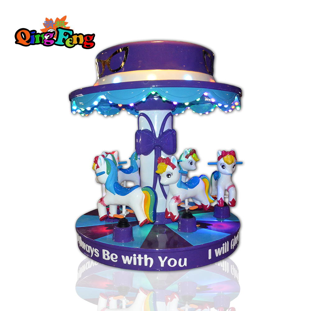 Qingfeng indoor coin operated Fairy tale world electric Merry-go-round carousel game machine sale for theme park
