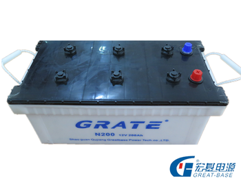 China Battery Manufacturer N200 Dry Charged Lead Acid Battery With ...
