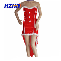 sexy red adult snow queen costume christmas santa clause girl dress Xmas costume santa claus costume for adult