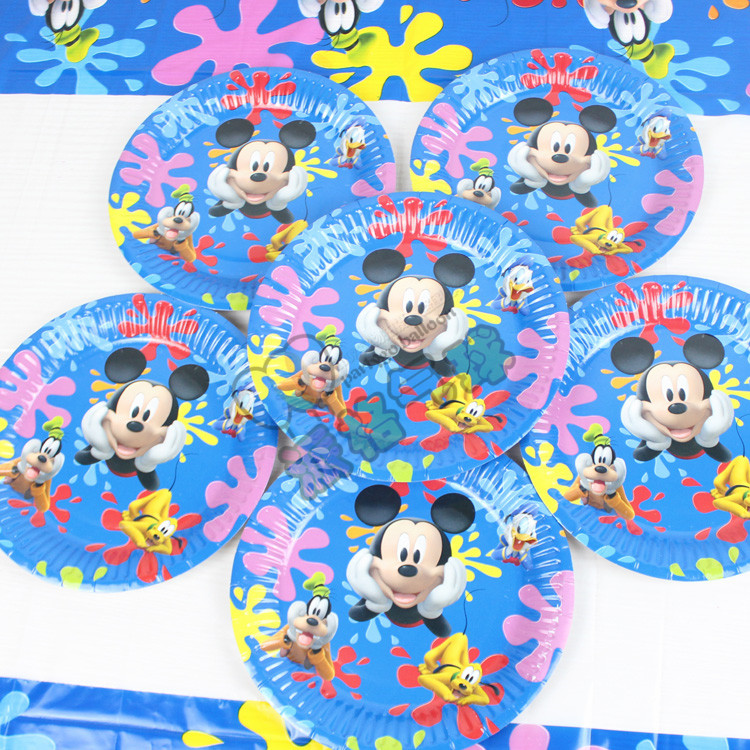 mickey mouse theme Paper Plate baby boy birthday party supplies