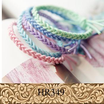 Knitted Hair Rope Elastic Hair Bands Handmade Hair Ties - Buy ... b8cb54cd113