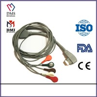 DMS 300 Holter System cable 3 lead ecg cable