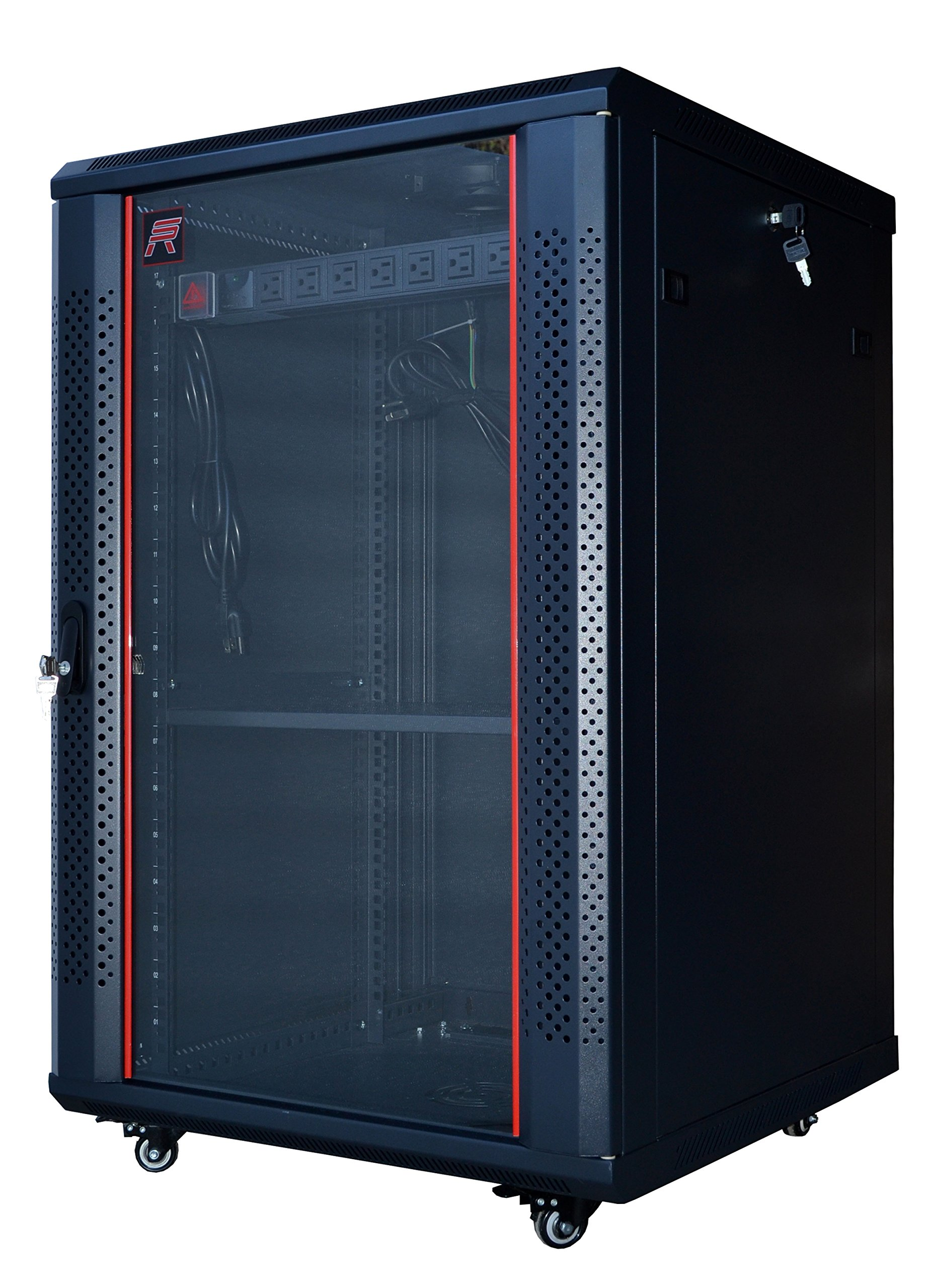 server door it products cabinet rack perforated glass with