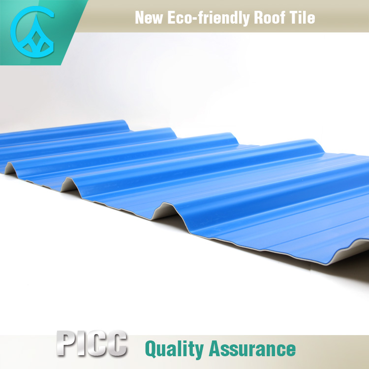 Easy And Fast Installation Colors Available PVC Plastic Roof Tile
