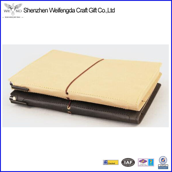 A5 Size Tyvek paper agenda business gift elastic notebook ,washing kraft paper notebook hot selling