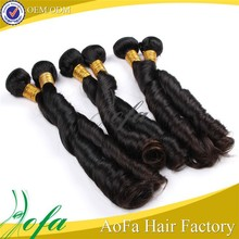 Noble real silky cheap unprocessed virgin remy romance curl human hair
