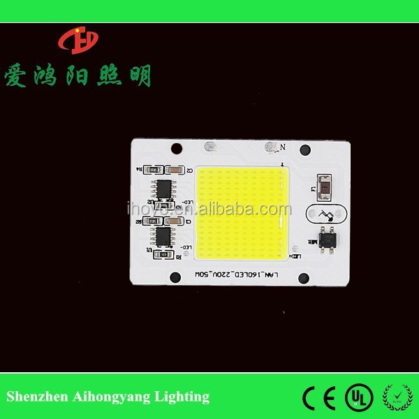 Newest high power chips integrated 220v 50w ac cob led