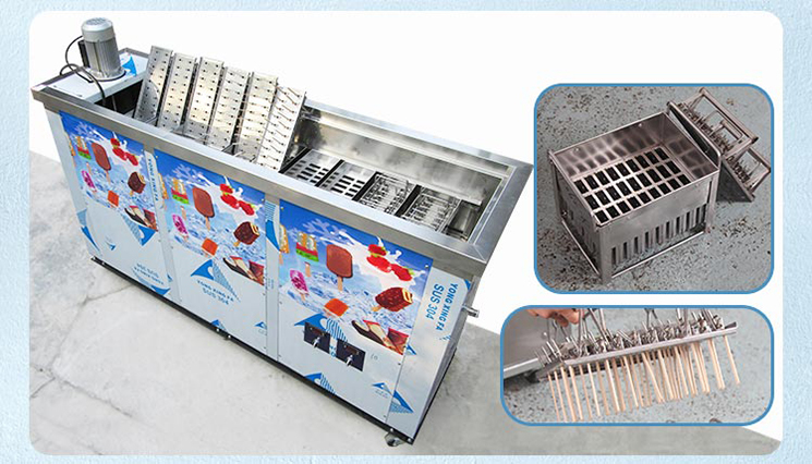 Kolice Finamac Brazil Commercial Popsicle Making Machine With 10 Moulds