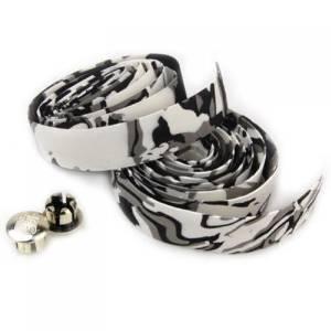 TOOGOO(R) Road Bike / Bicycle Cork Handlebar Tape / Wrap (White with Black)