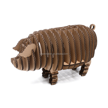 diy cardboard pig toy 3d toy wholesale toy 3d
