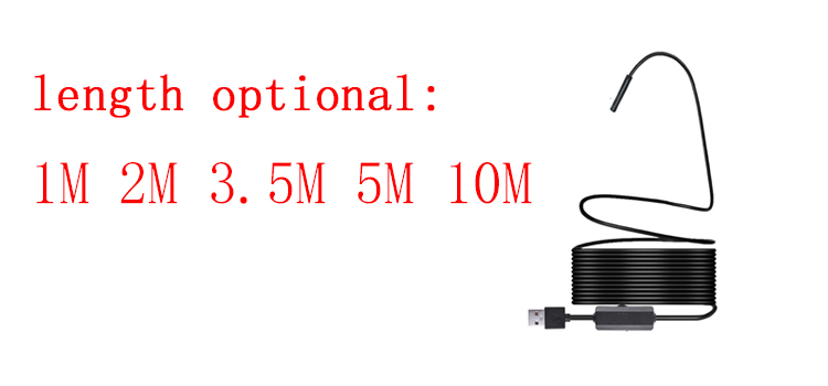 2M HD Wifi Endoscope Camera Borescope IOS Android Phone Endoscope Inspection Camera 8 Led 7mm Lens Wireless Endoscope