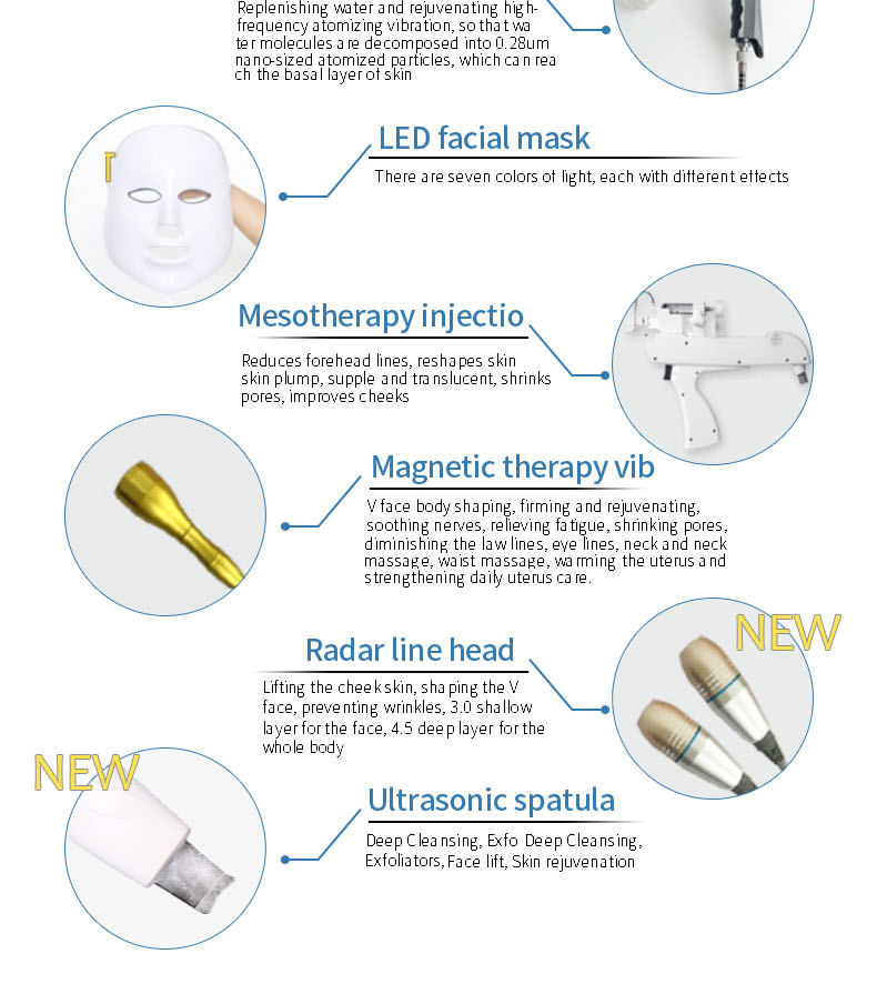 New products Top Quality Low Price Skin Care Facial Machine Multi-functional Salon Beauty Equipment