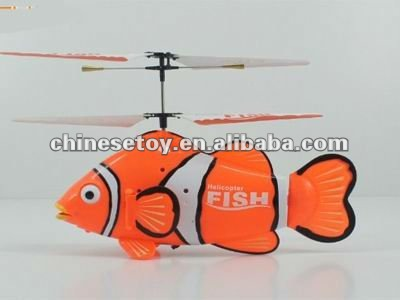 mini 3ch remote control clown fish rc flying fish
