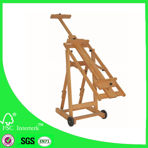 Tilting Studio Easel / versatile easel suitable for artists/ wooden artist studio easel factory supply