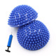 gymnastics fitness pvc half balance pod with pump half massage ball