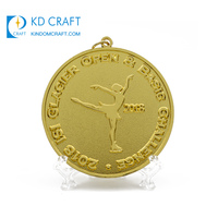 High quality custom design your own metal embossed 3d dance medallion gold plated skating ski medal