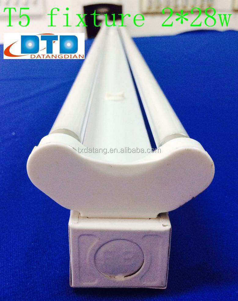 T5 Double Tube Energy Saving Industrial Fluorescent Light Fixture