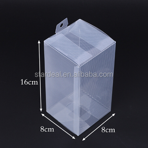 custom made small cheap hard clear plastic packaging box