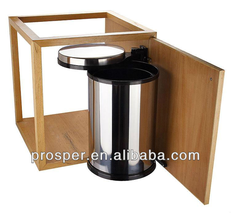 Cabinet type stainless steel waste bin