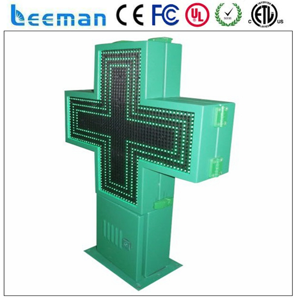 outdoor single color led display modules led pharmacy cross sign led sign cross sign